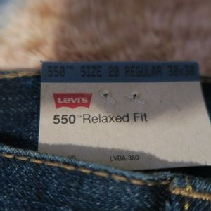 Levi's Jeans - NWT Levis 550 Relaxed Tapered Leg Blue Jeans 30x30